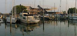 Inn overlooking the marina