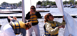 Annapolis Sailing Students on the Water