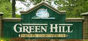 Green Hill Country Club Entrance Sign