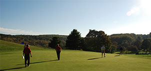 Golfers at Hunt Valley