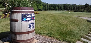 Course Marker at Rum Pointe