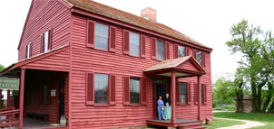 Photo of a red house