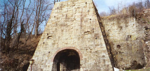 Entrance to stone blast furnace