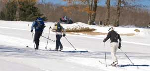 Skiing at the Nordic Center
