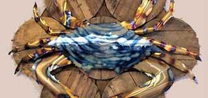 Blue Crab Sculpture