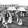 Photo of Downton Abbey era garden party