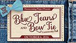 Invitation to Blue Jeans and Bow Tie Ball