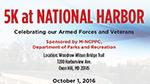 5K at National Harbor poster