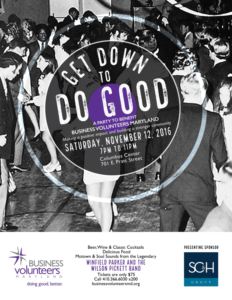 Get Down to Do Good event flyer