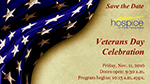 Save the Date Card for Veterans Day Celebration