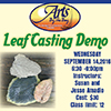 Leaf Casting Workshop flyer