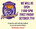 Arts by the Bay Gallery's 1st Friday Oct 7th poster