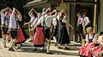 Oktoberfest dancers in traditional Bavarian dress