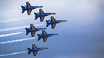 Photo of the Blue Angels Demo Team