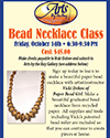 Arts by the Bay Announcement for Paper Bead Class
