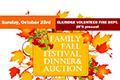 Family Fall Festival, Dinner & Auction poster
