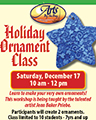 Holiday Ornament Class flyer
