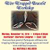 Arts by the Bay: Wire Wrapped Bracelet Workshop flyer