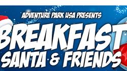 Santa and Friends Breakfast flyer