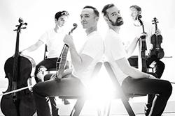 JACK Quartet group with instruments