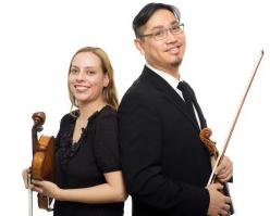 Alice Tung, viola, and James Tung, violin