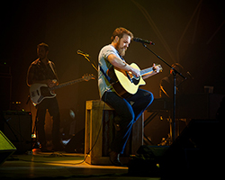 Marc Broussard on stage in concert