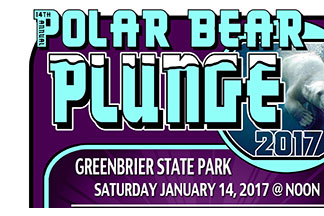 Polar Bear Plunge 2017 at Greenbriar State Park flyer