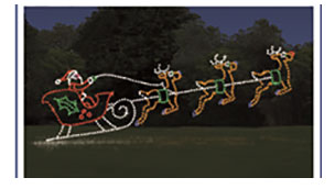 Photo of Santa and His Sleigh in lights