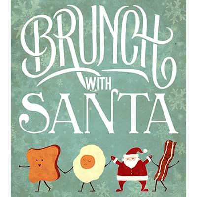 brunch with santa poster