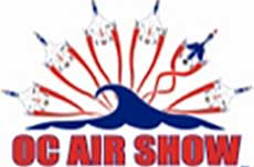 Ocean City Air Show Red, White & Blue Logo