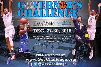 Governor's Challenge High School Basketball flyer