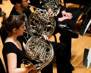 UMD Wind Orchestra on stage