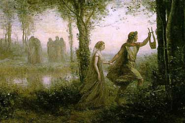Painting of Orpheus and Eurydice