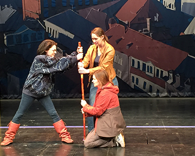 Actors on stage from Adventure Theatre MTC 2016