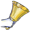 Image of a hand ringing a bell