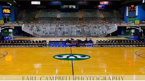 Photo of the Basketball Court before the Game
