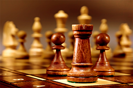 image of chess pieces on a chessboard