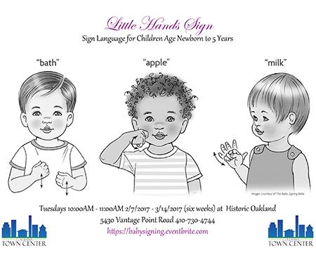 Little Hands Signing flyer