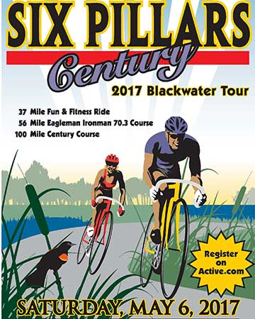 Six Pillars Century 2017 Blackwater Tour flyer