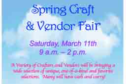 Spring Craft & Vendor Fair flyer