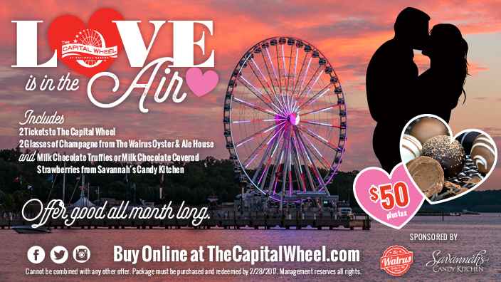 Love is in the air at The Capital Wheel, all February long!