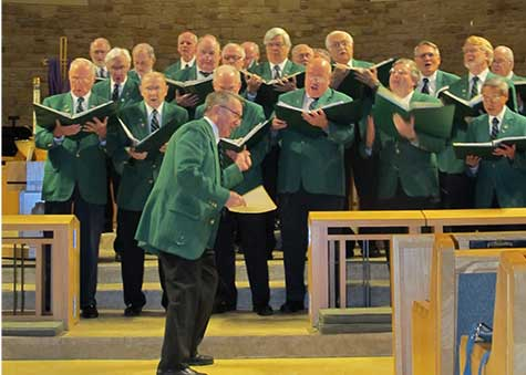 Irishman's Chorale in performance