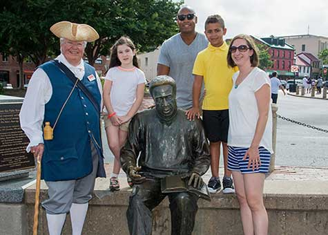 The Alex Haley Memorial at Annapolis City Dock