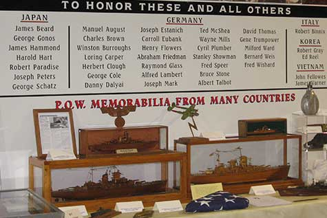 Display Honoring Prisoners of War