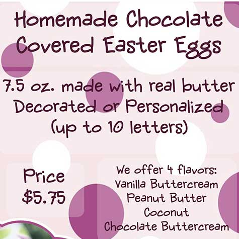 Homemade Chocolate Covered Easter Eggs flyer