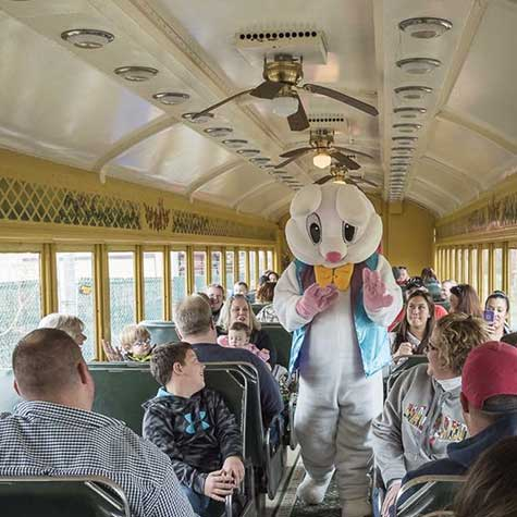 Mr. Bunny on the Walkersville Southern Railroad!