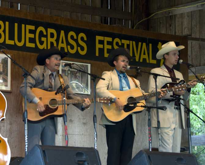 Lil Margaret's Stage During Bluegrass Festival