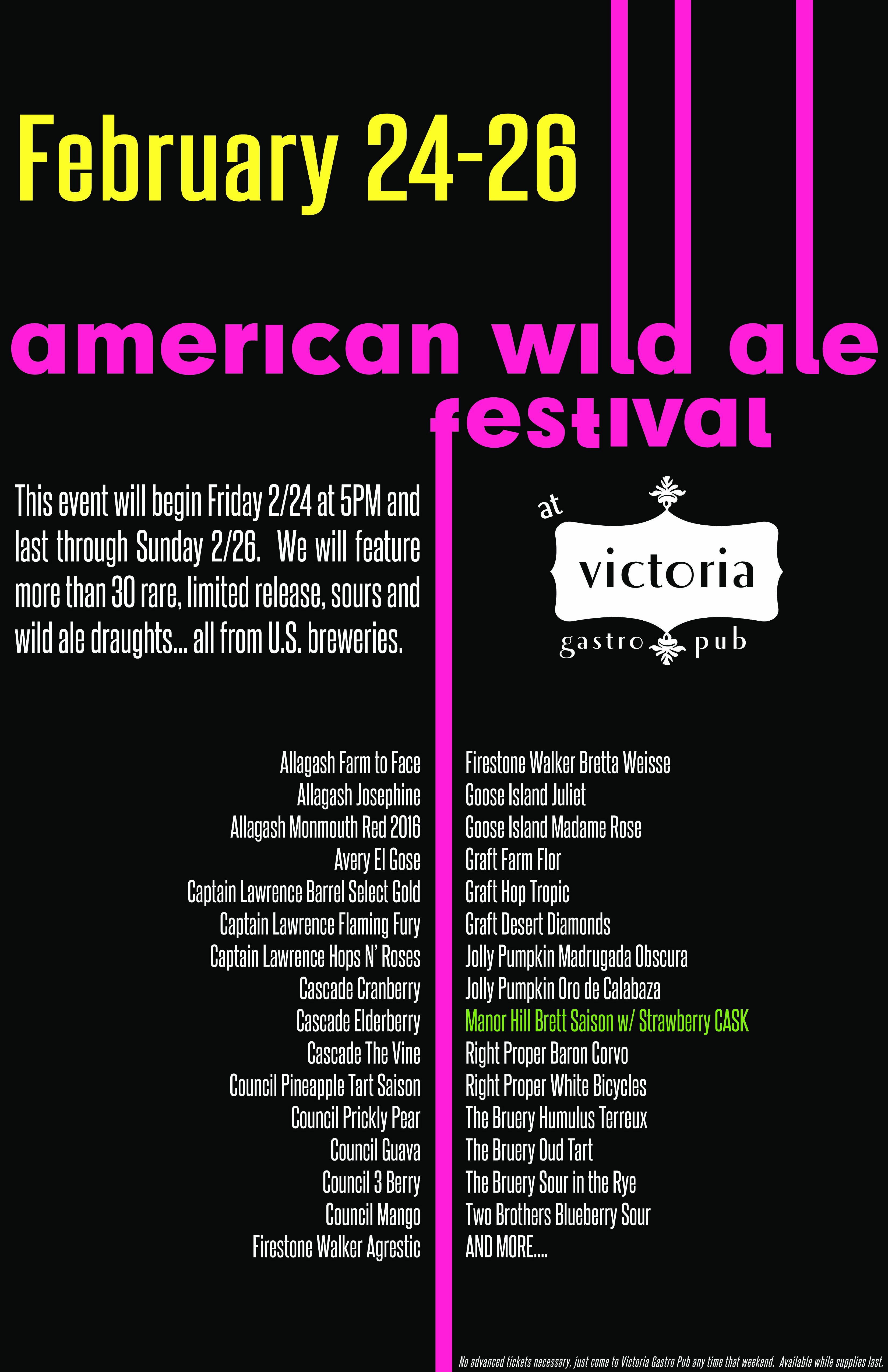 Victoria Gastro Pub Wild Ales Festival Poster