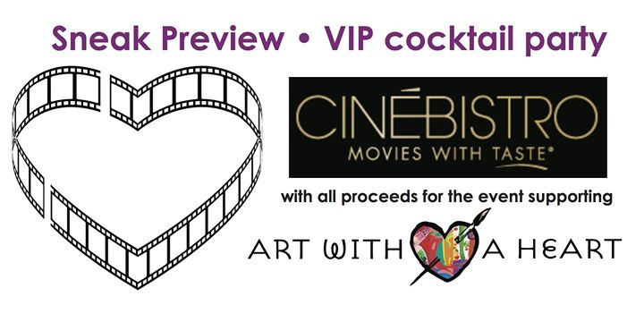 Flyer for CinéBistro at the Rotunda