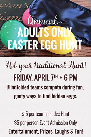 Adults Only Easter Egg Hunt flyer